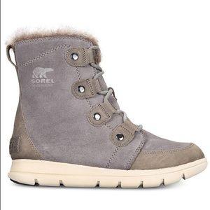 NEW Sorel Explorer Joan Winter Boot in Gray
